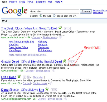 SearchWiki – The Death of SEO?